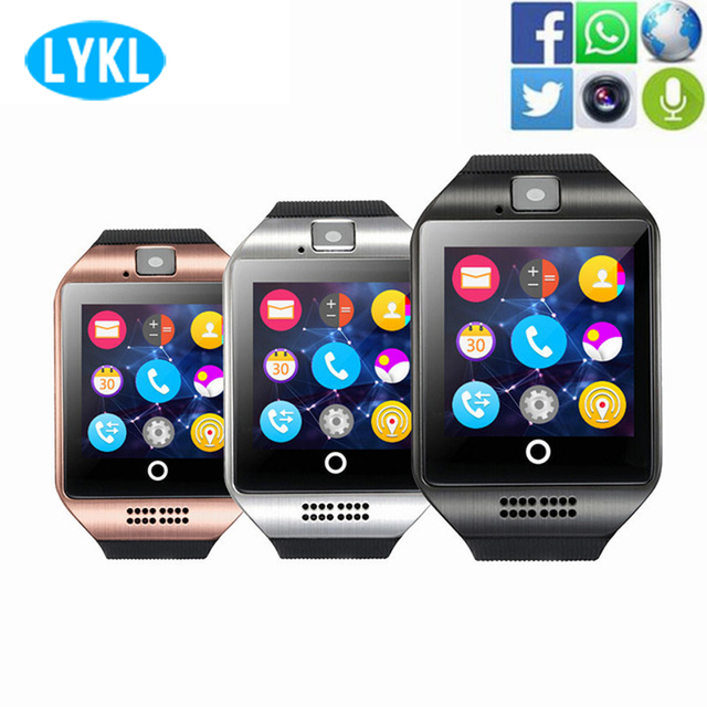 Smart Watch Q18 Bluetooth Smartwatch Facebook Whatsapp Twitter Sync Support SIM Card Fitness Tracker WristWatch for IOS Android