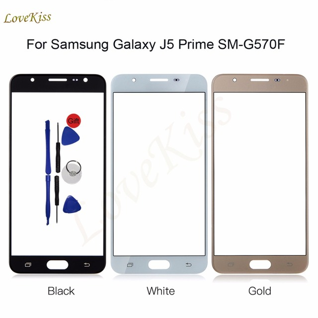 Touch Panel Screen For Samsung Galaxy J5 Prime SM-G570F SM G570 G570F On5 2016 Front Glass Outer Lens Replacement + Tools No LCD
