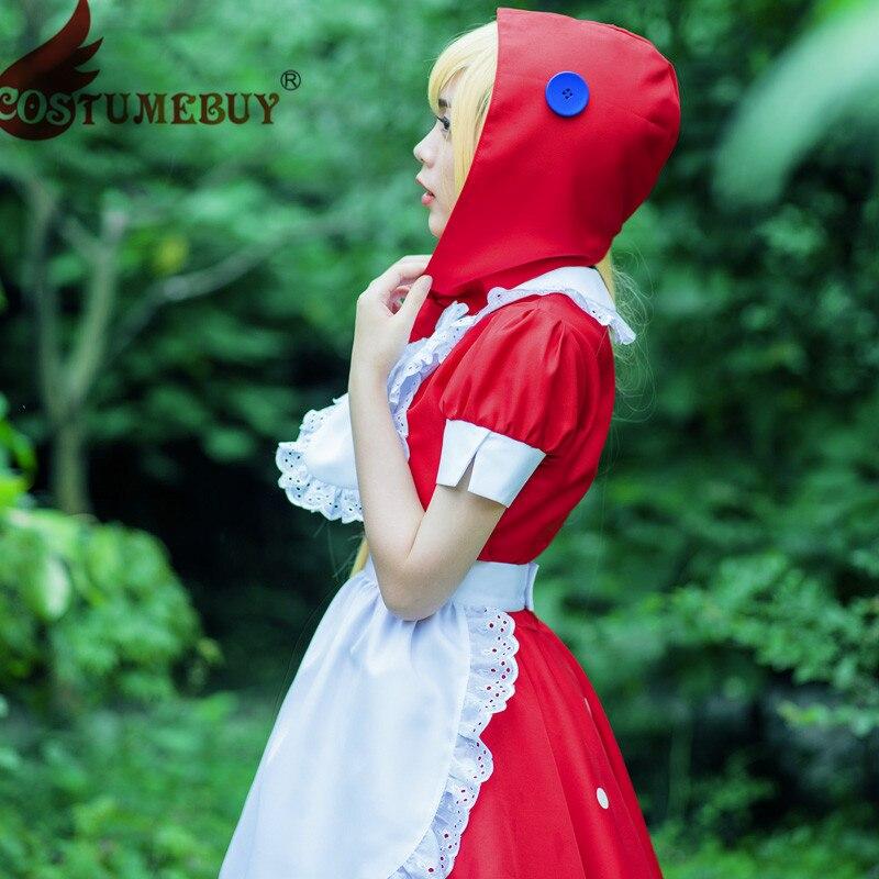 CostumeBuy LOL Gothic Lolita The Dark Child Little Red Riding Annie Cosplay Dress hoodie Maid Uniform Costume Girls Skirt T115