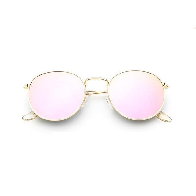 Retro round Woman sunglasses