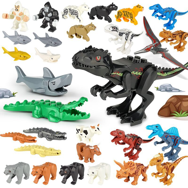 Animal Series Model Figures Small Building Blocks Animals Educational Toys For Kids Children Gift Compatible With Classic Series