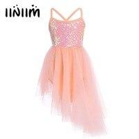 XS XXXL Hot Kids Dancewear Sequins Ballet Dress Girl Tulle Tutu Ballet Leotard Dress Children