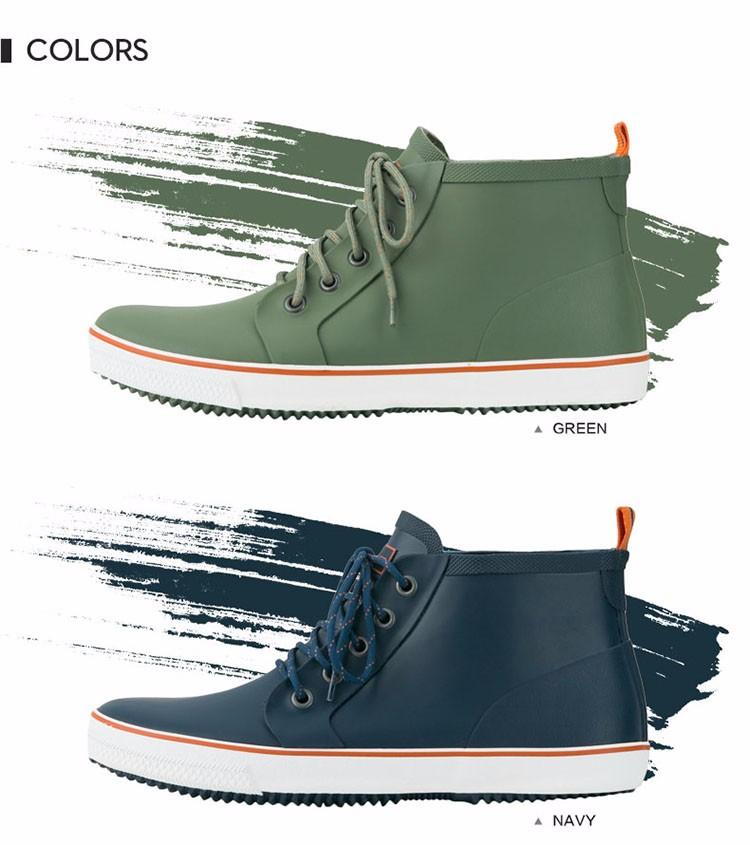 Hellozebra Men Rain Boots Autumn Fashion Lace Men 's Short Tube Water Boots Low Shoes Men Outdoor Waterproof Fishing 2017 New  (12)