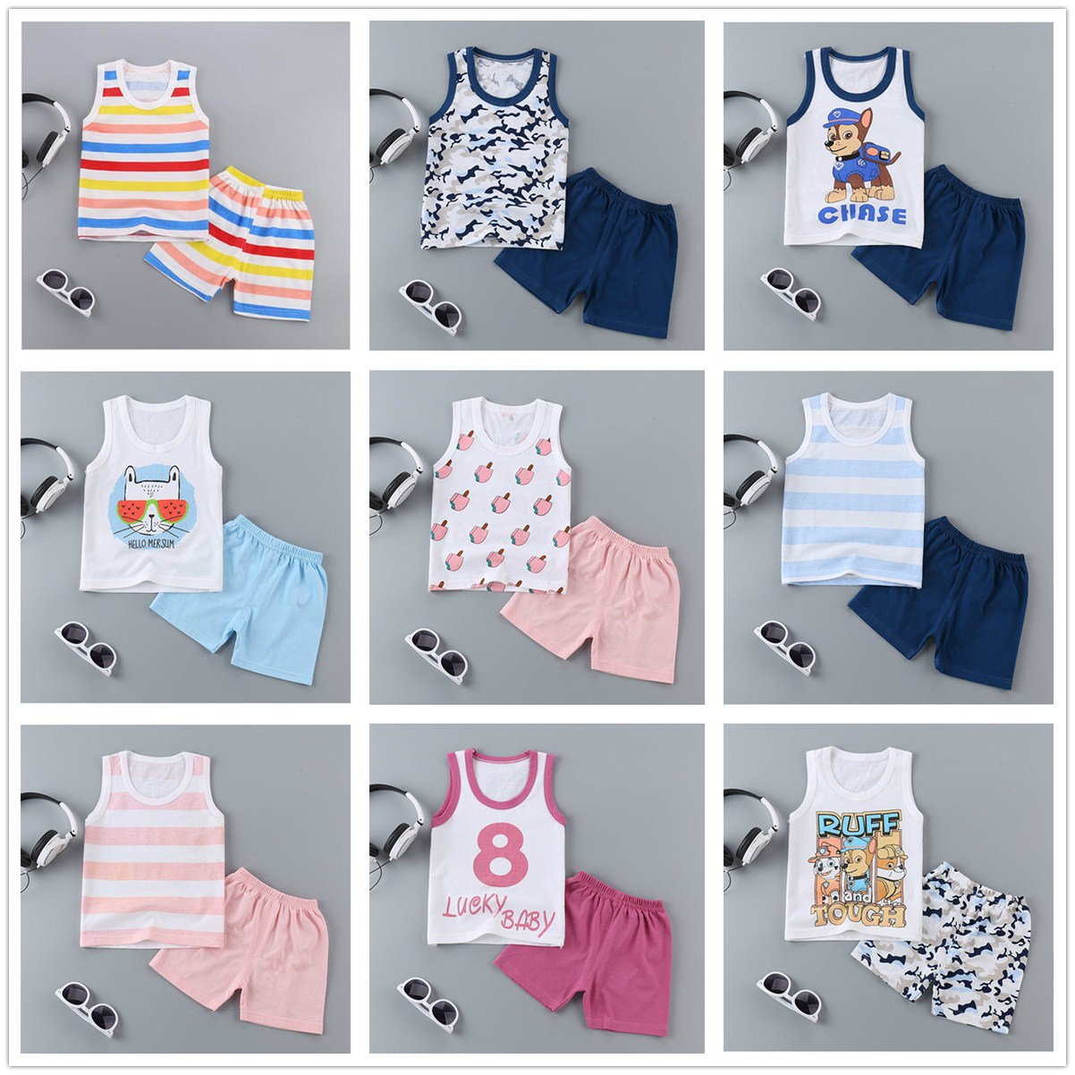 Children Baby Boys Girls Pants Summer Cotton Woven Shorts Baby Casual Pants