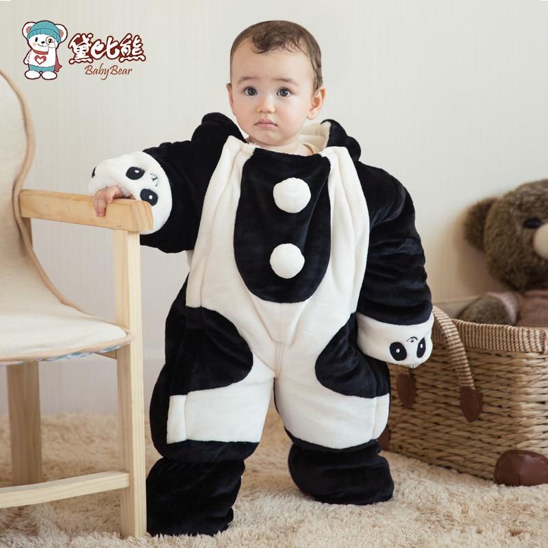 96b881801 Flannel thicken baby snow suit outerwear 12 18 months cartoon animal ...