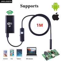Hot Sale 6LED WIFI Endoscope HD 8mmWaterproof Borescope Inspection Camera 1mFor IOS Windows Andoriod Iphone PC