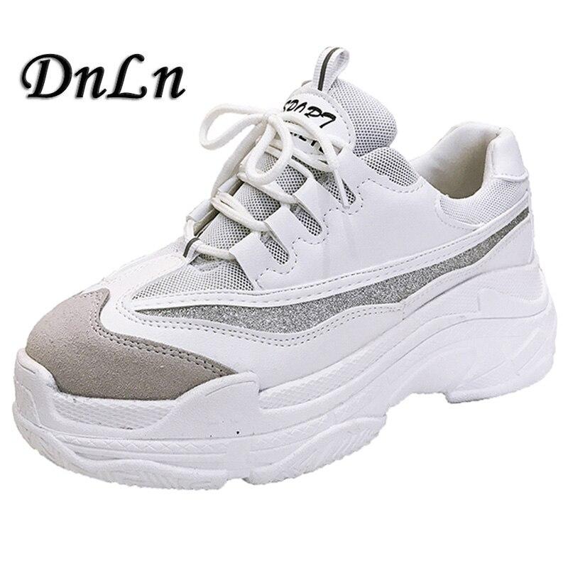 2018 высокие модные кроссовки Для женщин дышащая дышащим верхом обувь на платформе Tenis Feminino повседневная женская обувь ZT40