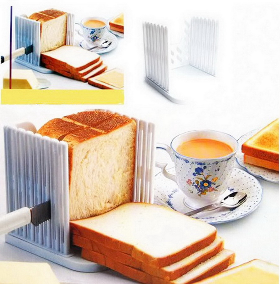 1pcs Professional Bread Loaf Toast Cutter Slicer Slicing Cutting Guide Mold Maker Kitchen Tool New Arrival