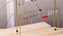 Creative solid wood iron earring rack jewelry display hanging ear nails Earring Pendant brass