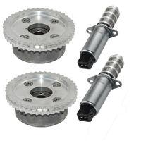 AP01 4pcs VVT Timing Camshaft Adjusters & Solenoid For Porsche Cayenne Panamera V8 4.8L 94810530407 94810505121