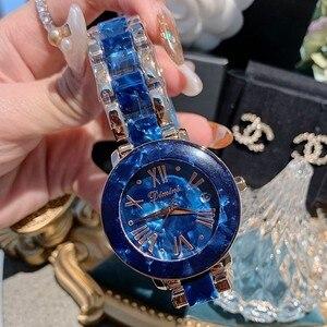 Image 4 - Dimini Vrouwen Horloges Nieuwe Luxe Dames Horloge Vrouwen Rhinestone Quartz Horloge Rvs Crystal Horloge Klok Reloj Mujer