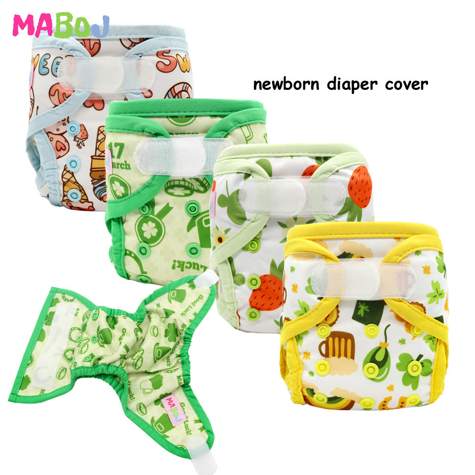 MABOJ Washable Diapers Cover PUL Newborn Nappy Wrap-Cloth Waterproof Snap-Down Rise