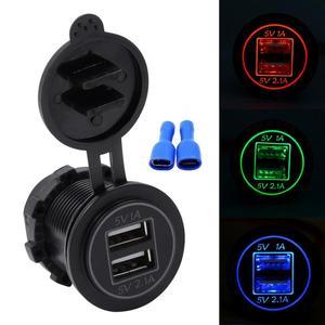 3.6A Dual USB Car Charger LED