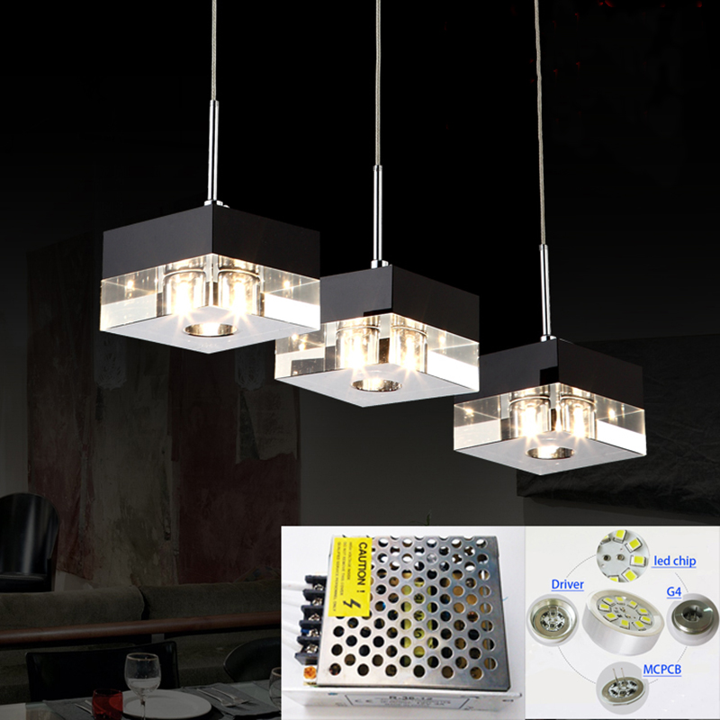 Lovely Pendant Light Upgraded New imported LED bulb & adapter k9 crystal black modern restaurant light Hanging crystal lamps led G4 in Pendant Lights from Lights Amazing - Model Of modern black pendant light Plan