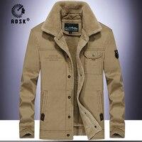 Winter Bomber cotton Jacket Men Air Force Pilot Jacket Warm Male fur collar Mens Army Tactical Fleece Jackets Drop Shipping