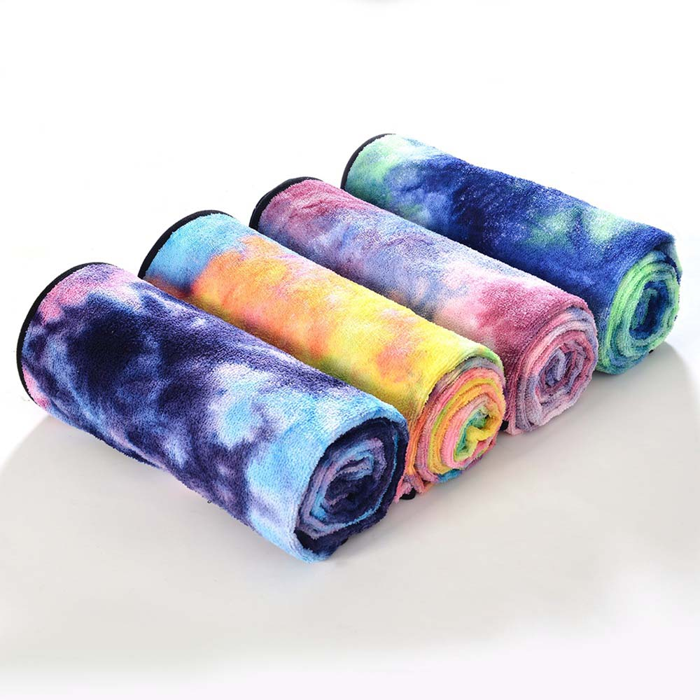 ①  183   63 см Мягкие нескользящие Одеяла для Йоги Yoga Pilates Mat Towel Quick Dry Печатный Одеяло Пут ①