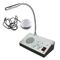 Window intercom Dual Way Audio Office Station Window Interphone Speaker