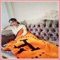 New 160*130 cm Cobertor Cobertores Cobertor De Lã Cashmere Marca Designer de Casa Sofá H carta Inverno Cobertores Frete grátis