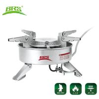 BRS Camping Gas Stove Camping Strong Firepower Cooking Stove Hiking Picnic Large Blaze Stove 2270W BRS 10