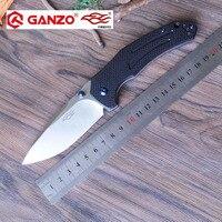 58 60HRC Ganzo F7611 440C G10 Or Carbon Fiber Handle Folding Knife Survival Camping Tool Pocket