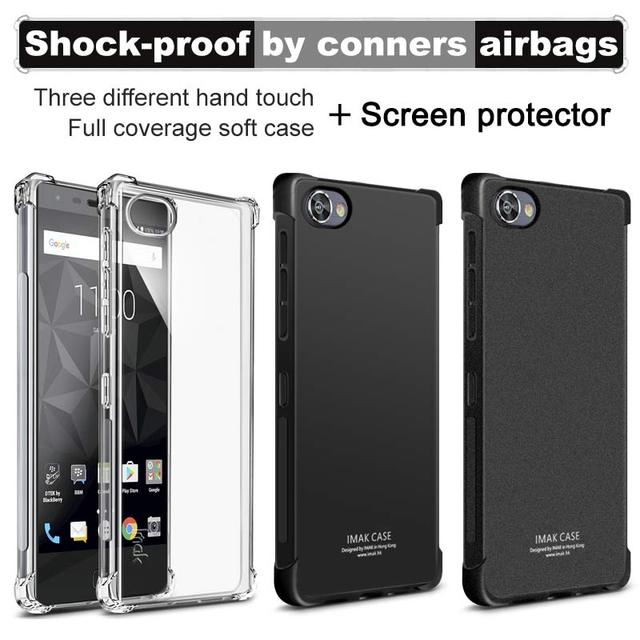 release date 9f7e8 add1d US $9.08 |For BlackBerry Motion Case Brand iMAK Airbag Super slim Soft  Phone cases for BlackBerry Motion case +Soft protective Film-in Fitted  Cases ...