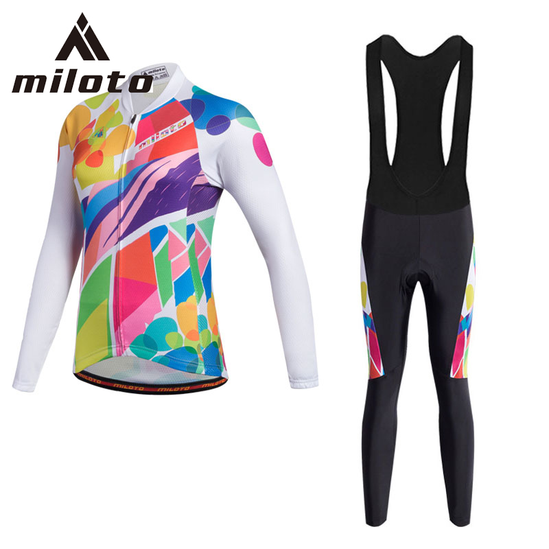 Miloto Womens Cycling Jersey Sets Anti-UV Racing Sportswear for Mtb Road Bicycle Team Bike Jersey Pants Set Cycling ClothingMiloto Womens Cycling Jersey Sets Anti-UV Racing Sportswear for Mtb Road Bicycle Team Bike Jersey Pants Set Cycling Clothing