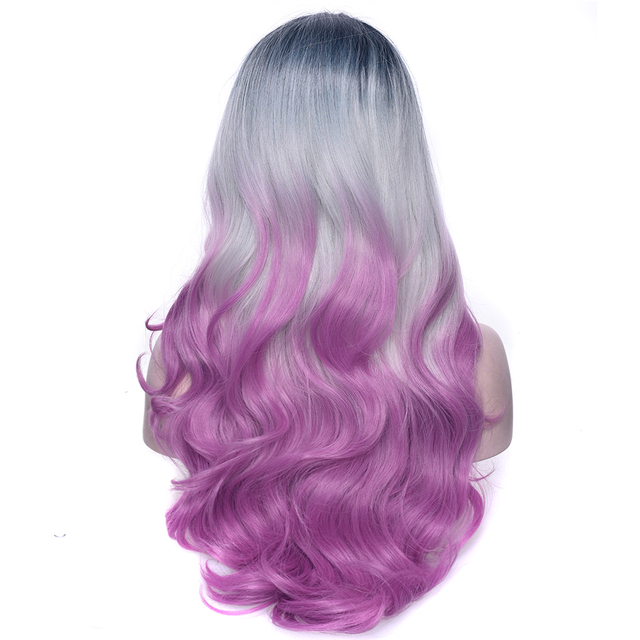 Aliexpress Com Buy Soowee Black Gray Purple Ombre Hair Synthetic Hair Long Cosplay Wig Party Hair Accessories Wavy Wigs Hairpiece For Women From