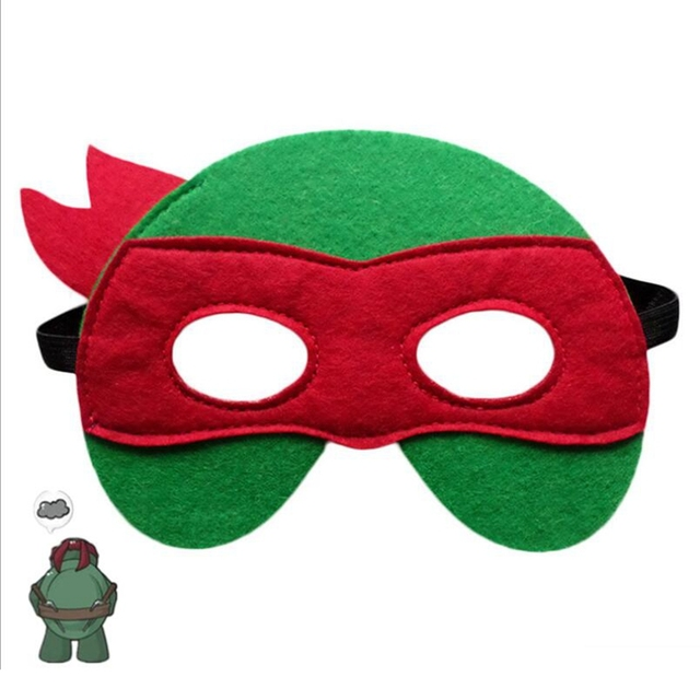 GNHYLL Ninja Turtles Mask Captain America Teenage Mutant Ninja Turtles The Avengers Kid Birthday Gift Cosplay Party Masks 3