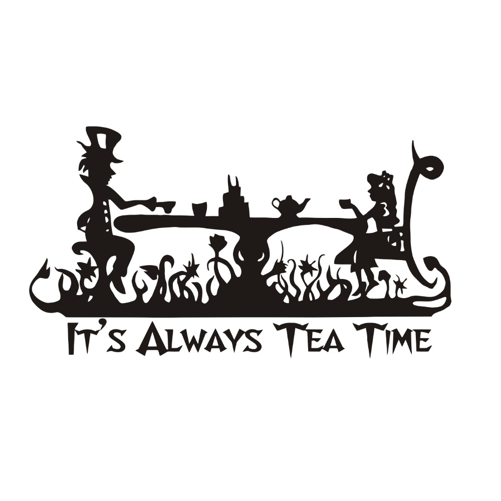Quotes From Alice In Wonderland Art Quotes It Is Always Tea Time Wall Decal Kids Room Decor Alice