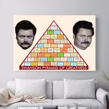 Swanson Pyramid Greatness Canvas Art Print Painting Poster Wall Picture For Living Room Home Decorative Bedroom Decor No Frame цена