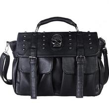 YISHIDUN Autumn Fashion Kito cranium Tassel Rivet Crossbody Bags UNEQUAL Shoulder Bag PU Handbags Women Messenger journey purse