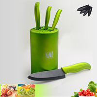 High Grade 6 Inch Kitchen Holder Multifunctional Large Capacity Ceramic Knife Block Kitchen Accessories Tool Holder