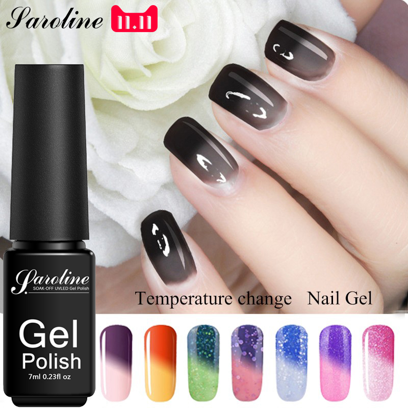 Saroline Temperature Change Color Gel Nail Polish Soak