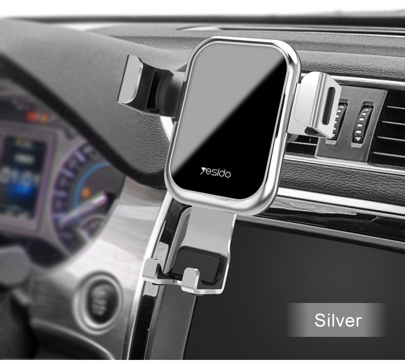 Tempered Glass Gravity Car Phone Holder Air Vent Car Mount Holder (15)