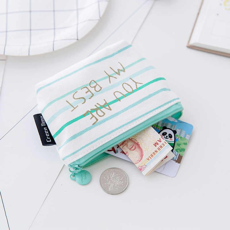 Lona Azul Estilo Simples de alta Qualidade Kawaii Crianças Grils Lindo De Pelúcia Com Zíper bolsa de Moedas Quadrado Saco de Dinheiro Das Mulheres Carteiras