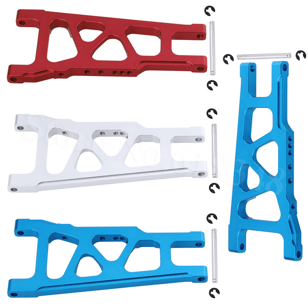 Aluminum Front & Rear Suspension A Arms L/R For 1/10 Traxxas Slash 4x4 Stampede 4WD 3655X Rally VXL w/TSM XO-1 HQ727 Parts 1 10 hq727 v2 traxxas slash short course truck parts number m0220 chassis