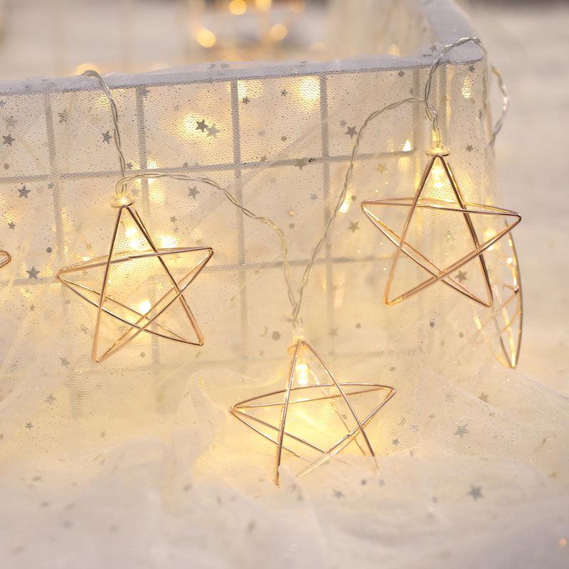 Led String Light Star 10LED 20LED 50LED Led Night Lights AA Battery Operated Led Fairy Strip lighting for Festival Christmas Dec