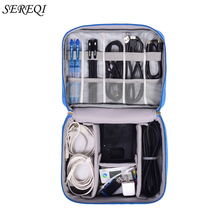 Data Cable Storage Bag Multi-function Digital U Disk Headset Charger Organizer Protection Box Electronic Gadget