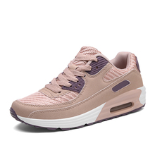 YeddaMavis Pink Women Sneakers Shoes Woman 2019 Spring New Lace Up Ladies Air Cushion Zapatos De Mujer
