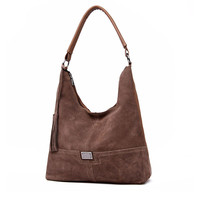 Brand Faux Suede Bag Women Designer Handbag Large Soft Leather Shoulder Crossbody Bags Hobos High Quality Female Tote Ladies Sac