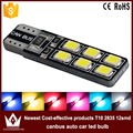 Night Lord 10pcs/ lot Newest Cost-effective products T10 2835 highbrightchip 12smd canbus auto car led bulb Free shipping