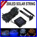 22 M 200 LED Solar Powered Hadas de la Secuencia Al Aire Libre Año Nuevo Guirnaldas Christimas Luces de Lámparas de Jardín Solar de La Decoración de La Boda Al C-30