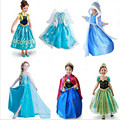 Girls dress 2017 snow queen elsa Baby girls Cosplay Dresses Costume princess anna Dress Kids clothes Halloween Christmas dress