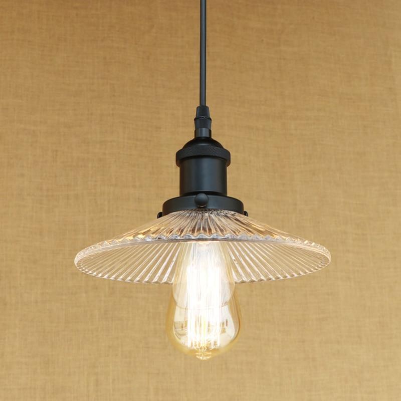 Retro E27 licht glas lampenschirm anhänger lampe vintage hängen Amerikanischen Loft stil küche wohnzimmer beleuchtung leuchte leuchte-in Pendelleuchten aus Licht & Beleuchtung bei