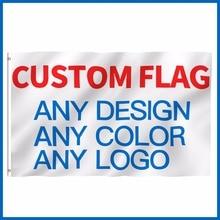 На заказ 3x5ft Печатный флаг любого размера 2x3ft 4x6ft 5x8ft рекламный логотип компании спортивный открытый клубный баннер флаги латунные втулки