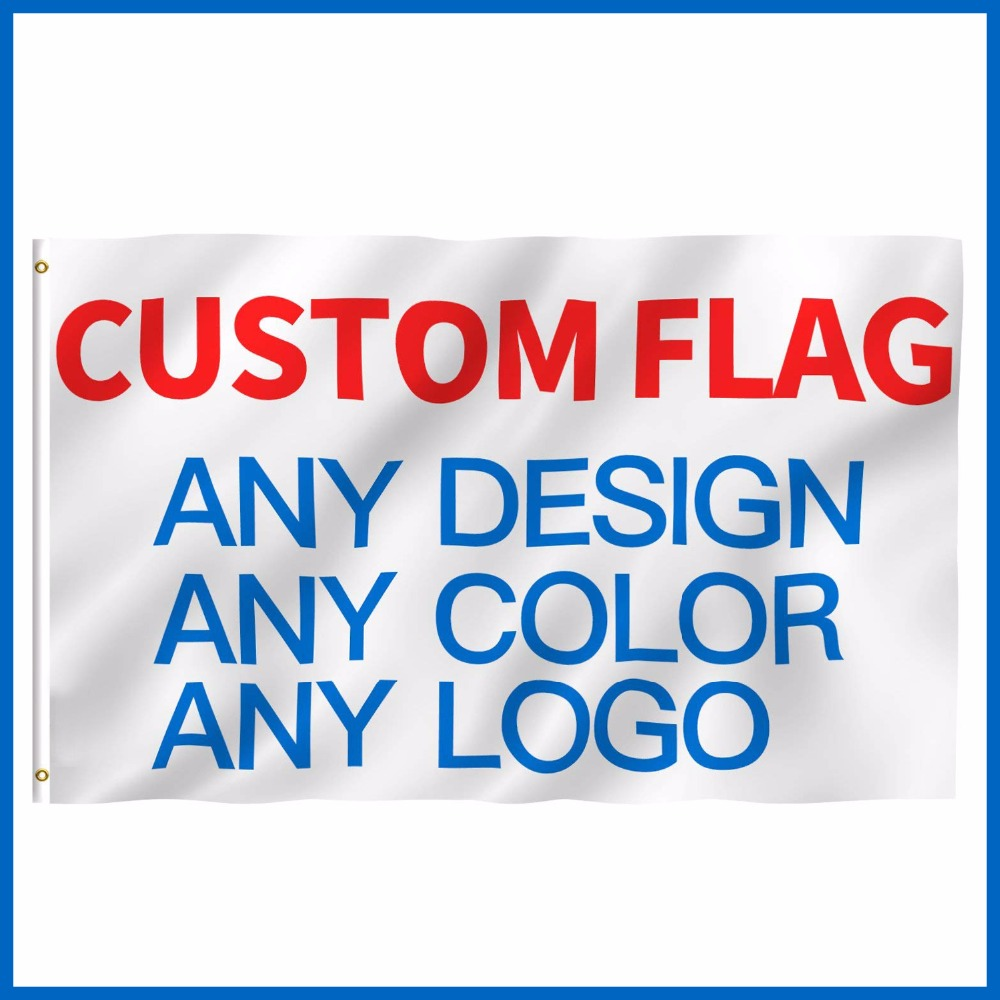 Custom Printed Flag Company Advertising Logo Sport Outdoor banner Banner Flags brass grommets,free shipping image