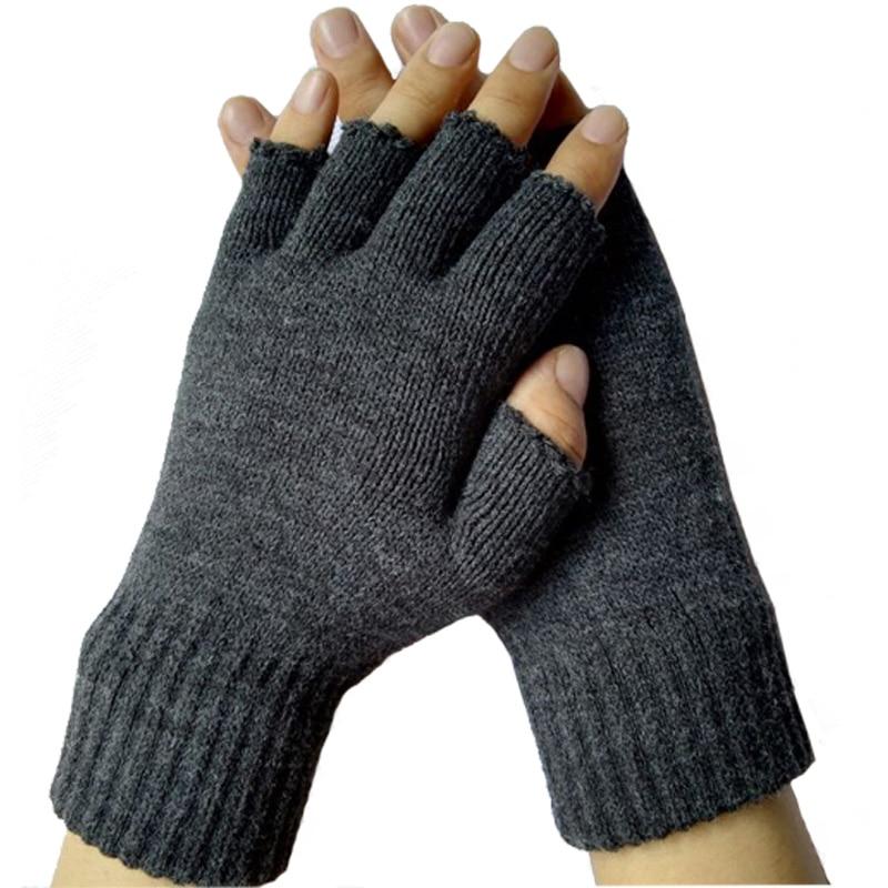 New 2016 Winter Warm Fitness Fingerless Gloves Unisex Womens Mens
