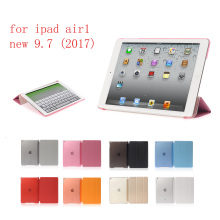 PC Leather Siamese Case for Apple iPad air new 9.7 Fashion Smart Cover + translucent back ipad