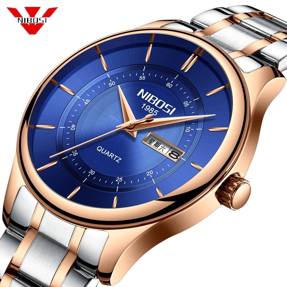 NIBOSI Relogio Masculino Mens Watches Top Brand Luxury Quartz Military Sports Watches Male Clock Waterproof Watch Men Reloj Saat