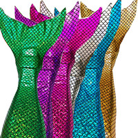 Swimmable Mermaid Tail Tails Monofin Bikini Top Girls Kids Shinning SCALE Swimming Swimware Girls Dress Cosplay